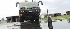 Tait TP9400 water cannon test